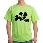 Ginko Tree Leaves Green T-Shirt