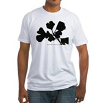 Ginko Tree Leaves Fitted T-Shirt