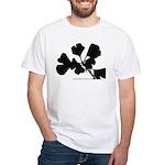 Ginko Tree Leaves White T-Shirt