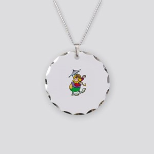 Clown Necklace Circle Charm