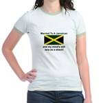 Married To A Jamaican Jr. Ringer T-Shirt