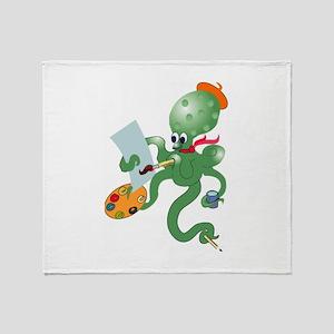 Octopuss Throw Blanket