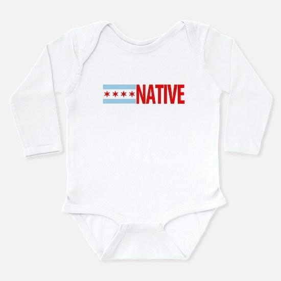Chicago IL Native Long Sleeve Infant Bodysuit