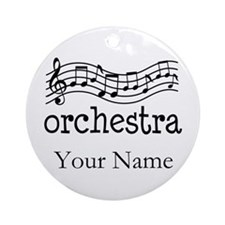 Personalized Orchestra Music Ornament