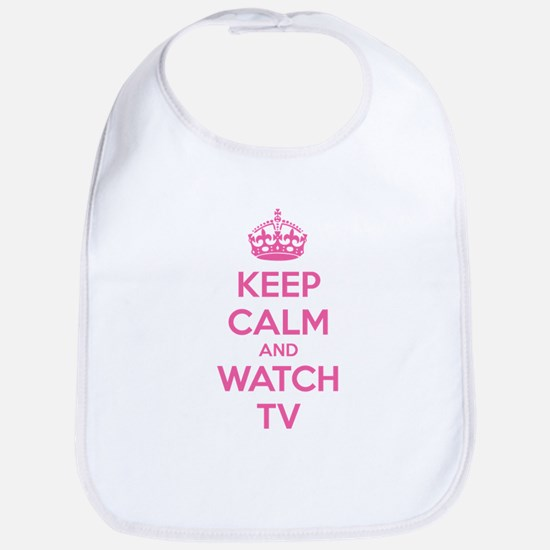 Keep calm and watch tv Bib