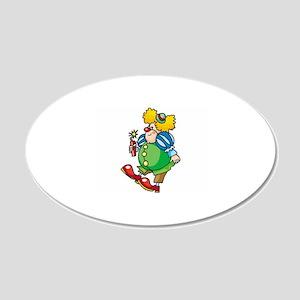 Clown 22x14 Oval Wall Peel
