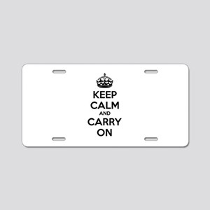 Keep calm and carry on Aluminum License Plate