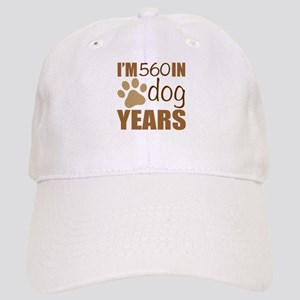 80th Birthday Dog Years Cap