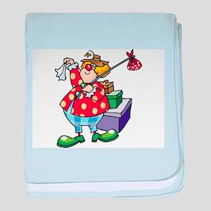 Clown baby blanket