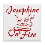 Josephine On Fire Tile Coaster