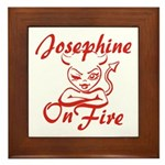 Josephine On Fire Framed Tile