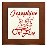Josephine On Fire Framed Tile