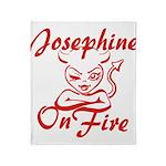 Josephine On Fire Throw Blanket