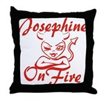 Josephine On Fire Throw Pillow