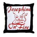 Josephine On Fire Throw Pillow