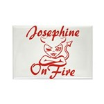Josephine On Fire Rectangle Magnet