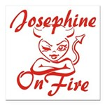 Josephine On Fire Square Car Magnet 3