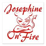 Josephine On Fire Square Car Magnet 3