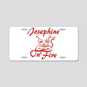 Josephine On Fire Aluminum License Plate