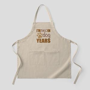 80th Birthday Dog Years Light Apron
