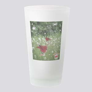 birds Frosted Drinking Glass