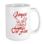 Joyce On Fire Large Mug