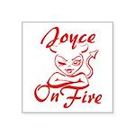 Joyce On Fire Square Sticker 3