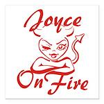 Joyce On Fire Square Car Magnet 3