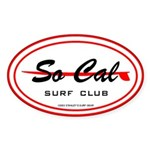 So Cal Surf Club Oval Sticker