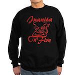 Juanita On Fire Sweatshirt (dark)