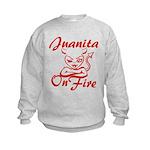 Juanita On Fire Kids Sweatshirt