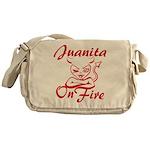 Juanita On Fire Messenger Bag