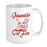 Juanita On Fire Large Mug
