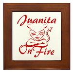 Juanita On Fire Framed Tile