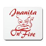 Juanita On Fire Mousepad