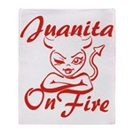 Juanita On Fire Throw Blanket