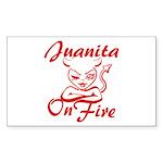 Juanita On Fire Sticker (Rectangle)