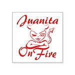 Juanita On Fire Square Sticker 3