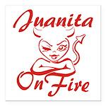 Juanita On Fire Square Car Magnet 3