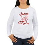 Judith On Fire Women's Long Sleeve T-Shirt