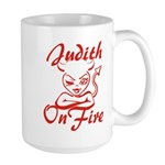 Judith On Fire Large Mug