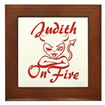 Judith On Fire Framed Tile
