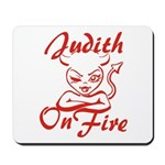 Judith On Fire Mousepad