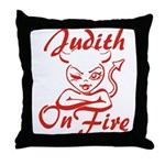 Judith On Fire Throw Pillow