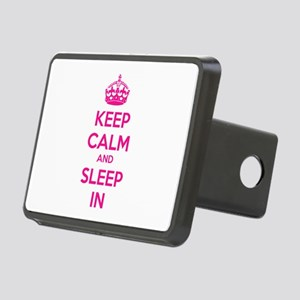Keep calm and sleep in Rectangular Hitch Cover