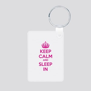 Keep calm and sleep in Aluminum Photo Keychain