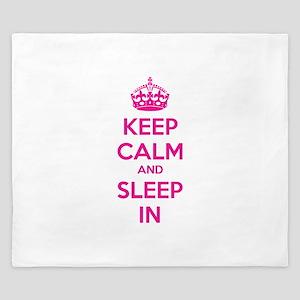 Keep calm and sleep in King Duvet