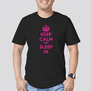 Keep calm and sleep in Men's Fitted T-Shirt (dark)