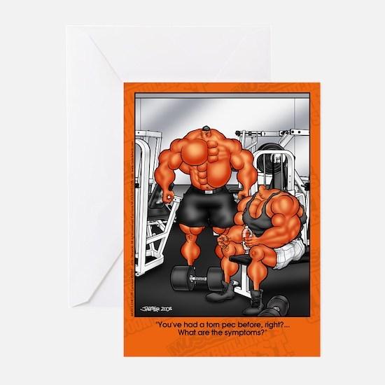 Torn Pec2 -Greeting Cards (Pk of 10)