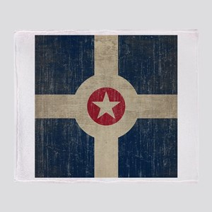 Vintage Indianapolis Flag Throw Blanket